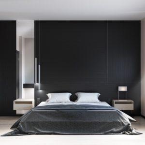 bedroom decoration using black item