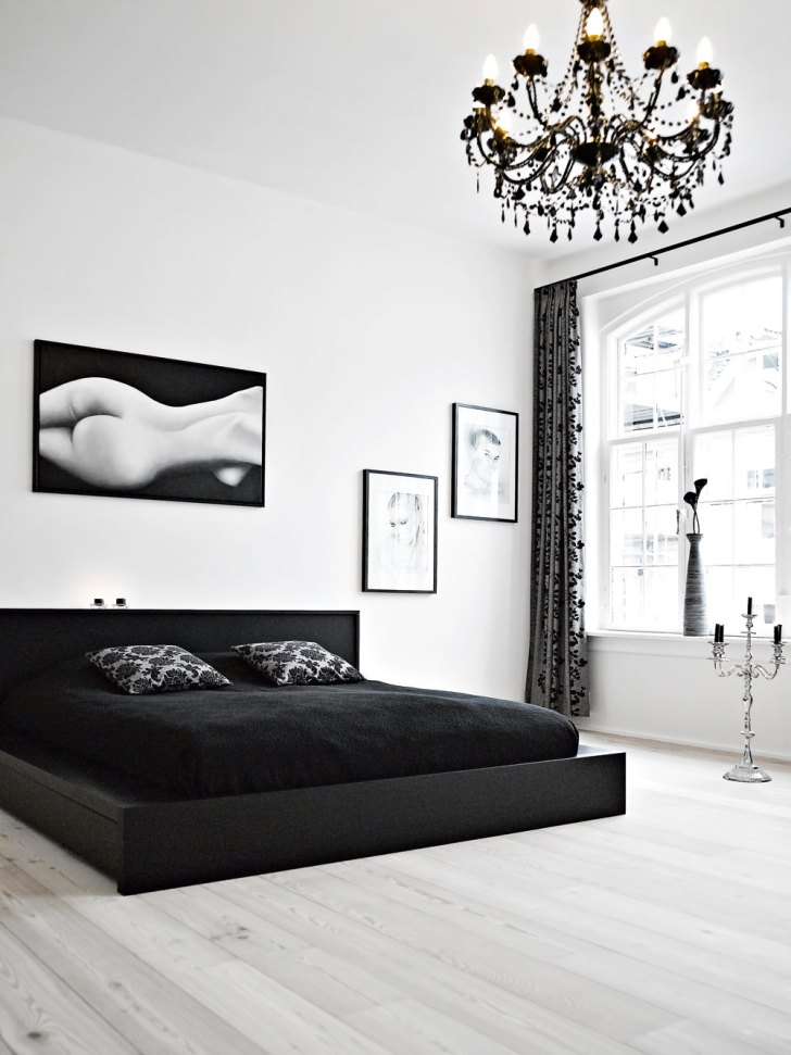 Elegant Ideas of Bedroom Decorating Ideas Using Black