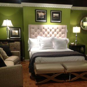 bedroom decor ideas using green items