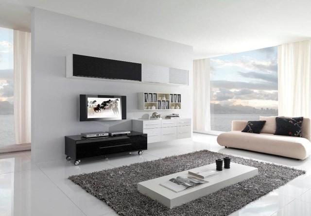 contemporary white living room designs