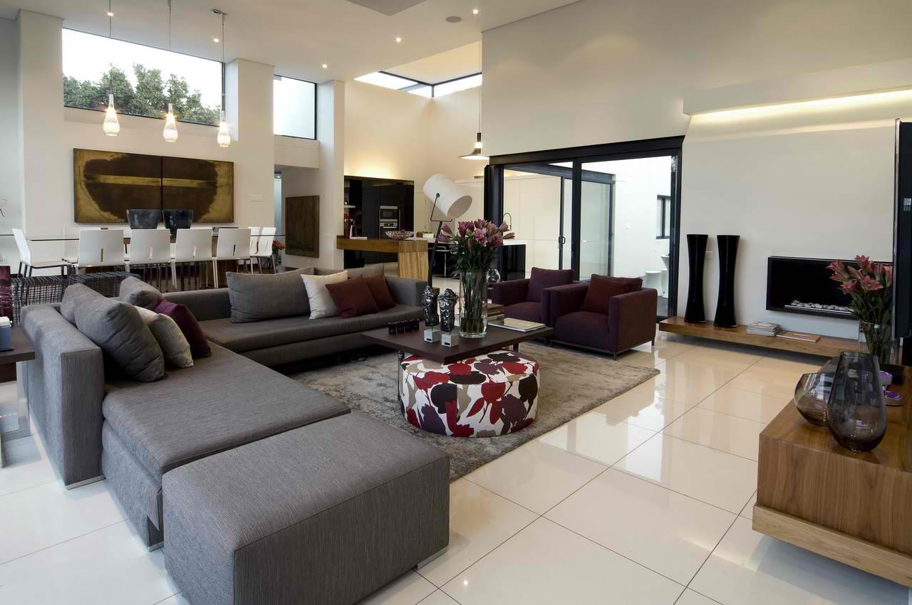 White color for contemporary living room design ideas