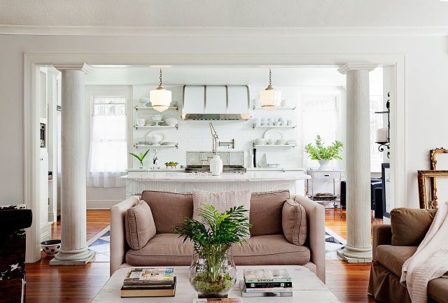 White wall for living room