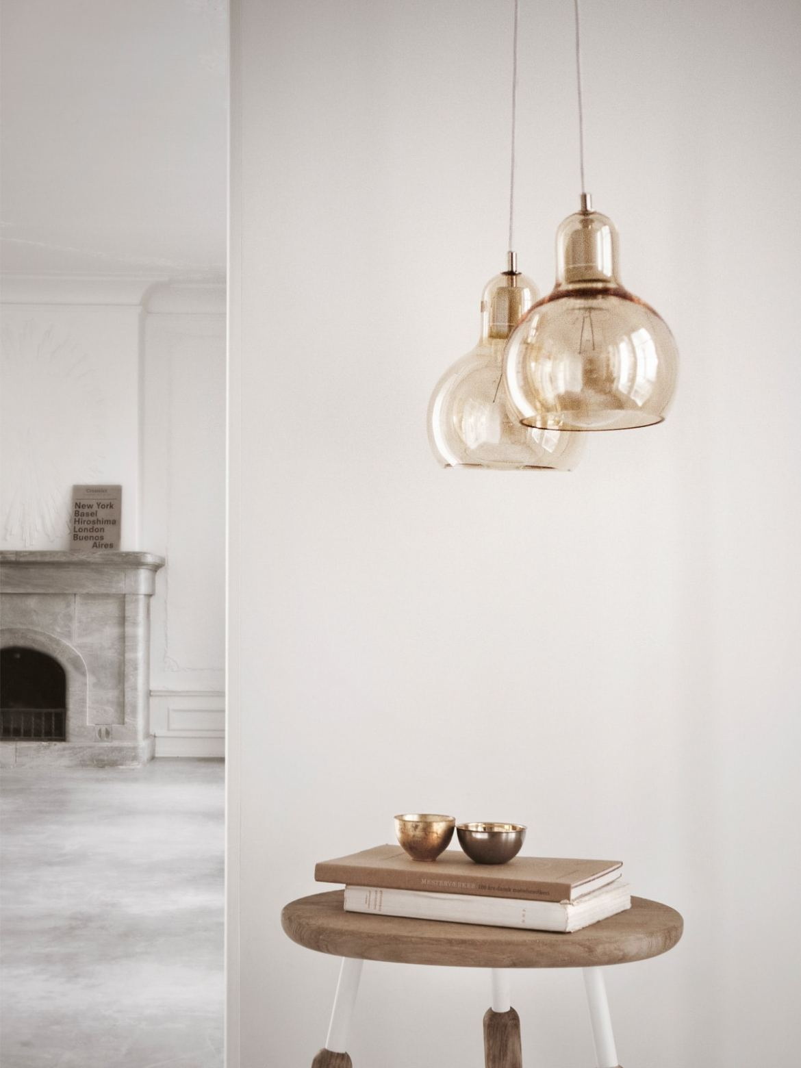 DesignOrt Blog: Pendelleuchten aus Glas &tradition Mega Bulb in Gold