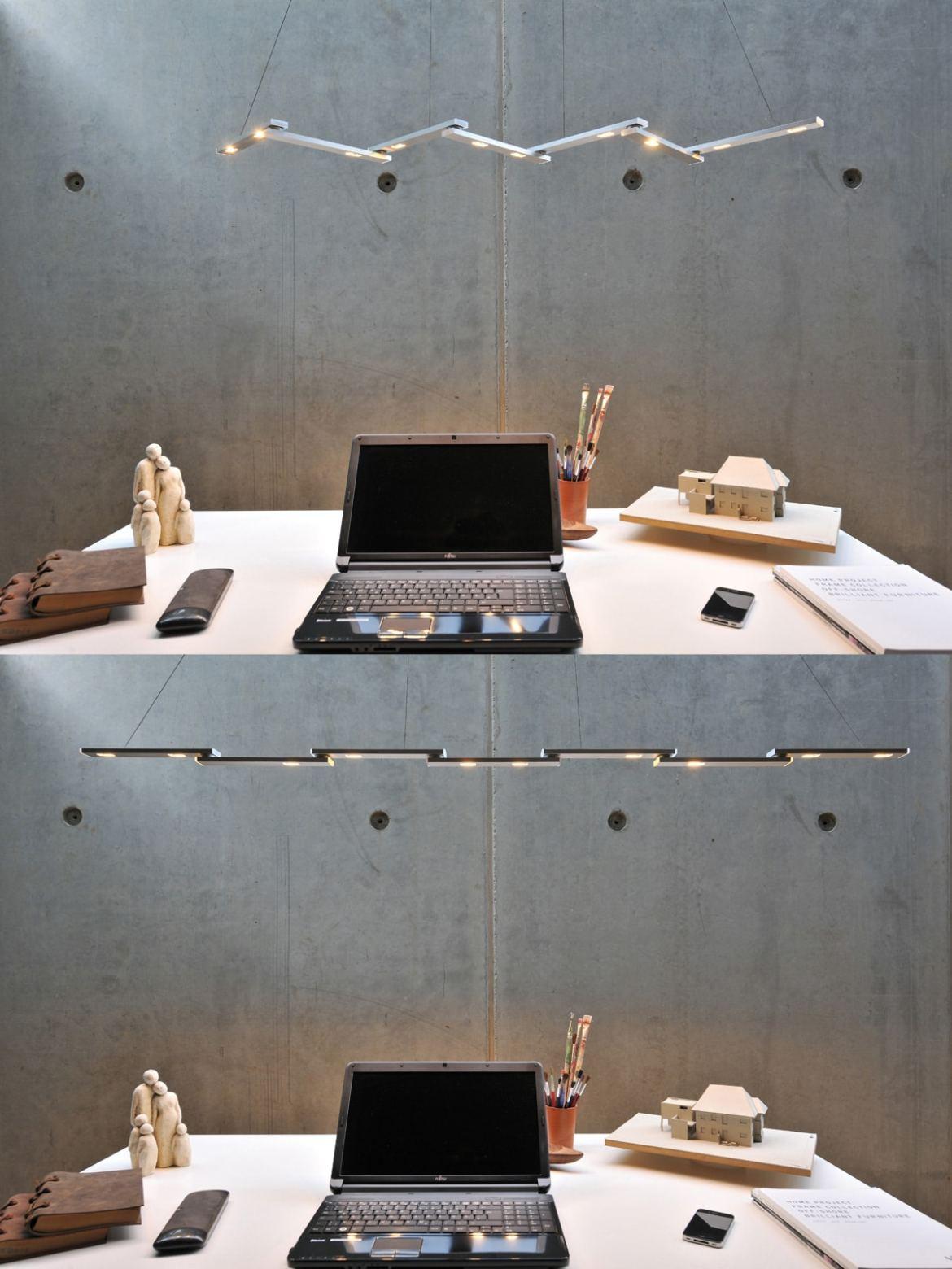 DesignOrt Blog: lange Pendelleuchte Nastro LED Leuchte von BYOK