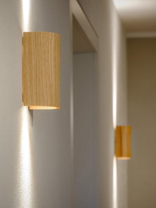 nachhaltige Holzleuchte Wandlampe Domus Licht Made in Germany