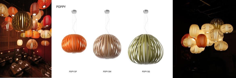 poppy LZF Design Holzleuchte