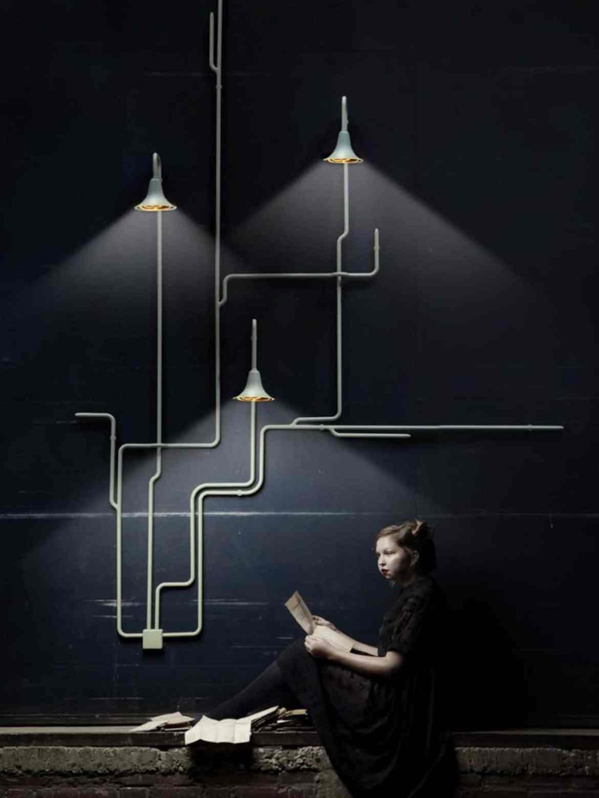 Designleuchte Light-Forest-OD2 an der Wand