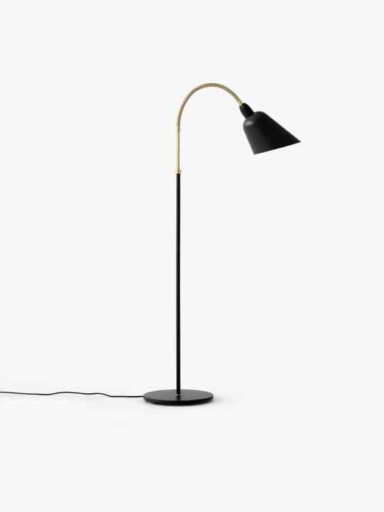 Bellevue Stehlampe in schwarz