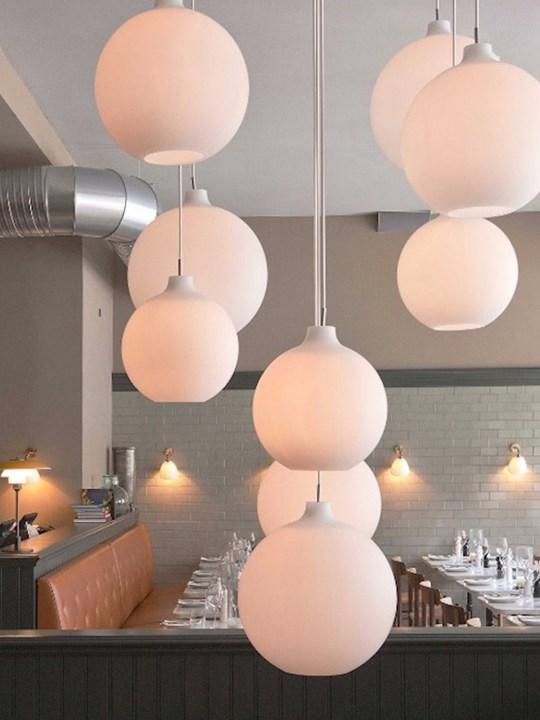 Glas Lampe Wohlert Opalglas Design Klassiker