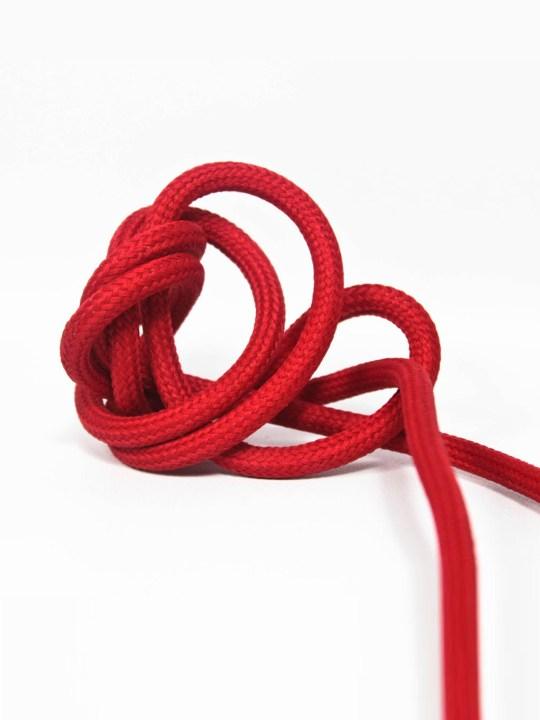 Textilkabel in Rot