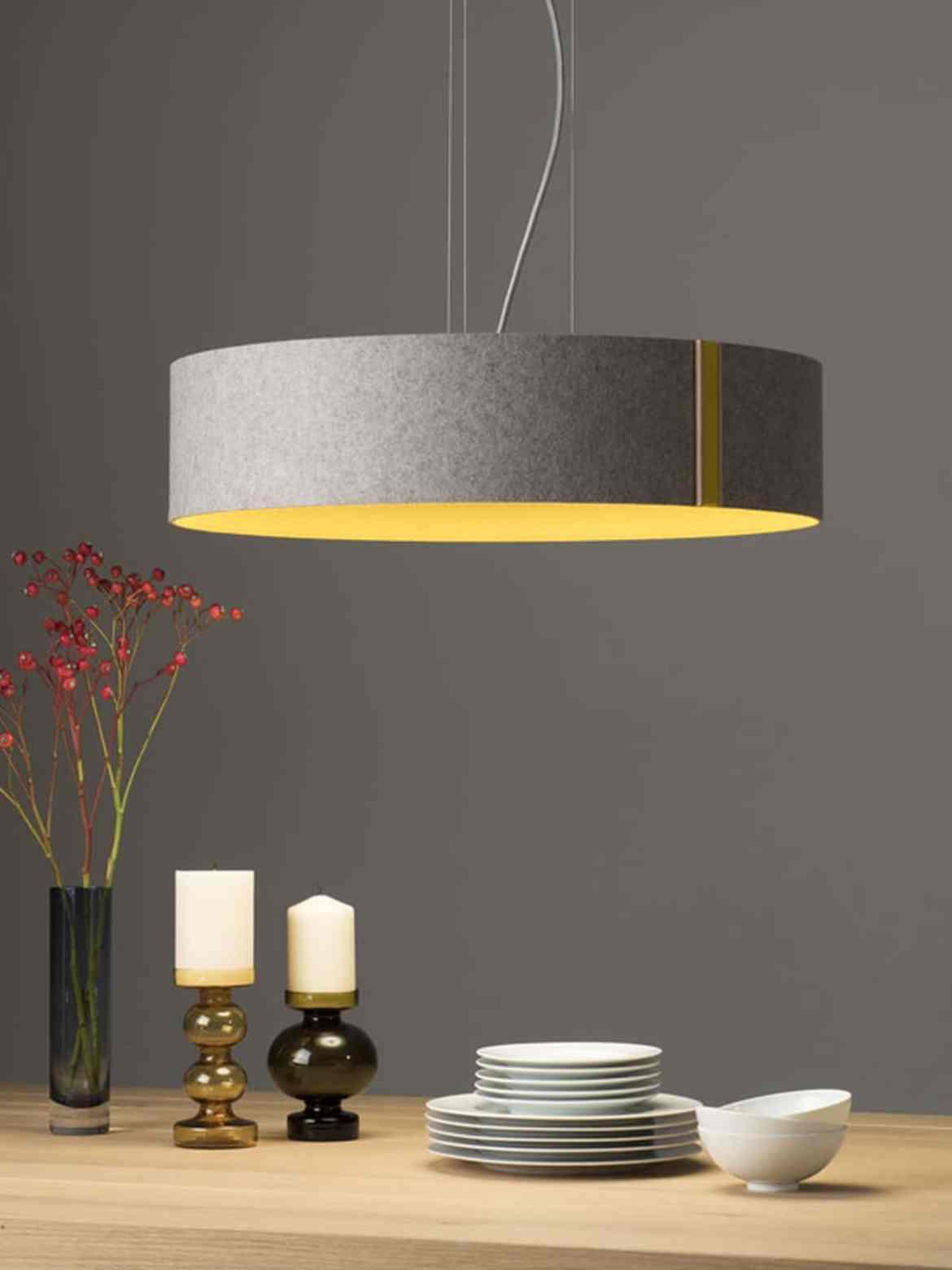 Larafelt grau-curry LED Leuchten DesignOrt Onlineshop