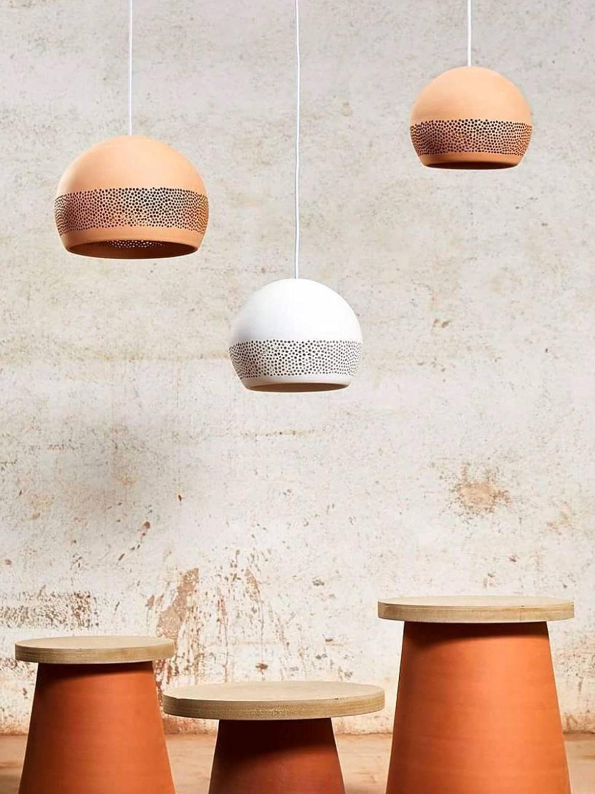 DesignOrt Blog: Pendelleuchten aus Keramik SpongeRo! von Pott DesignOrt