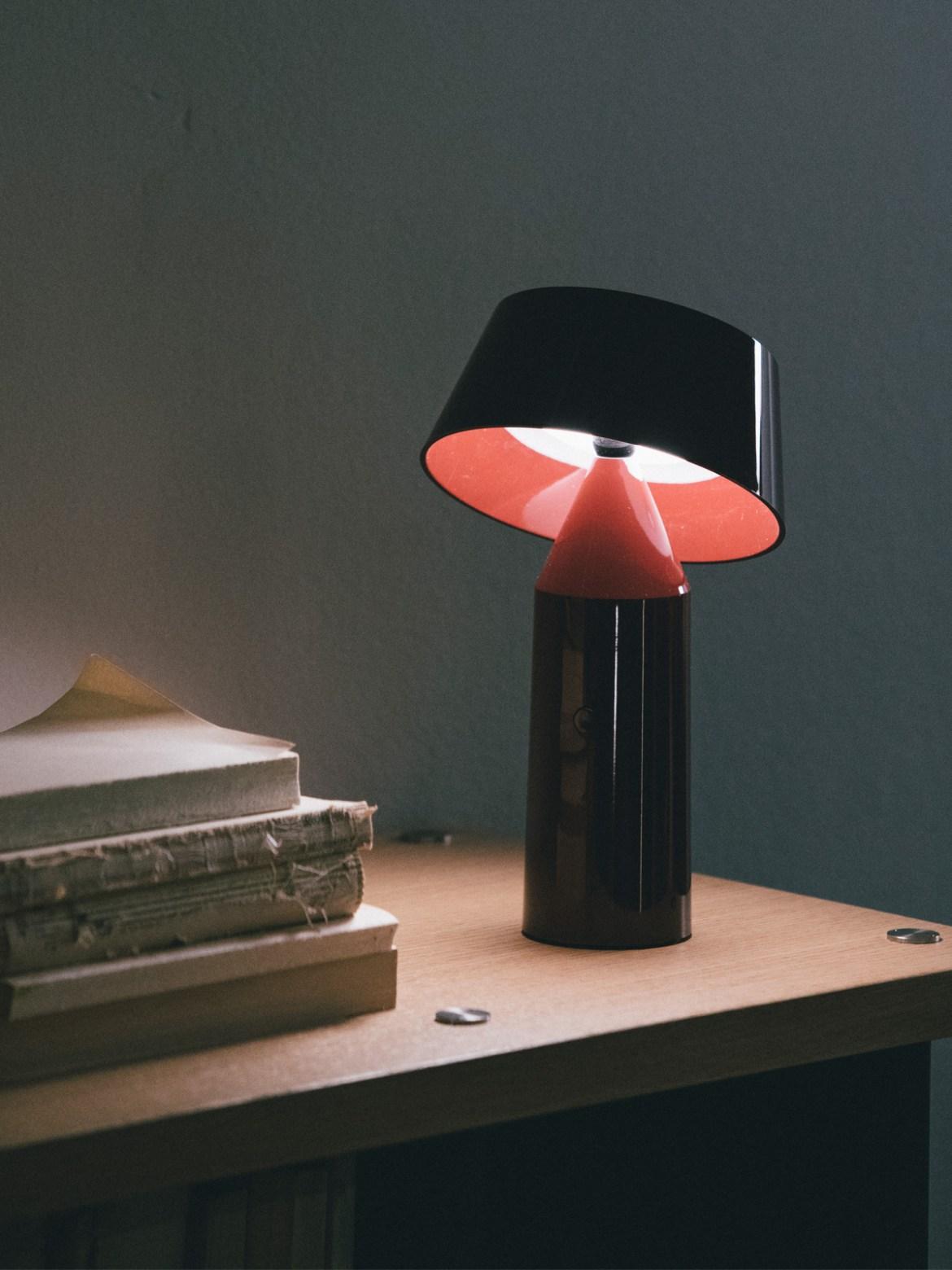 DesignOrt Blog: Trend: tragbare Leuchte farbenfrohe Tischleuchte Bicoca von Marset LED