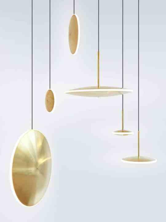Pendelleuchten aus Messing LED Chronalights