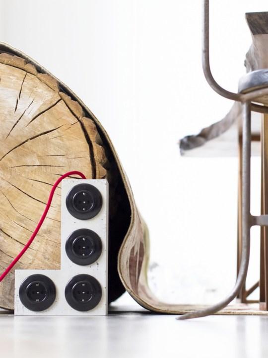 L Tetri Plug onkto Design aus Berlin Beton