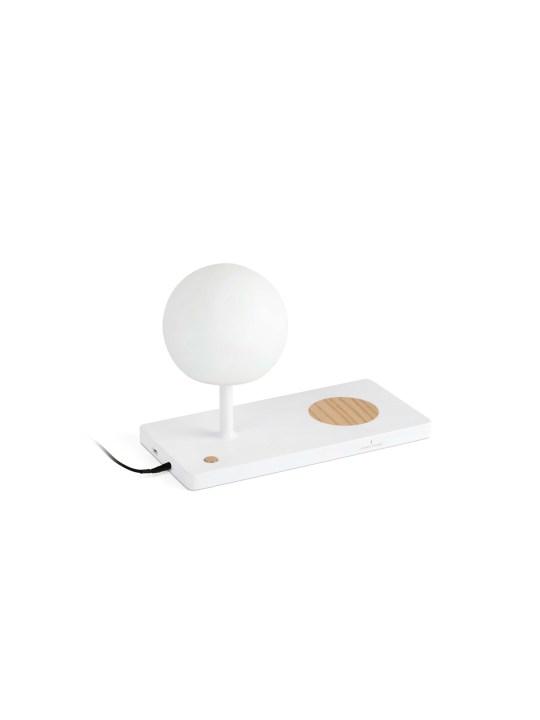 Tischleuchte mit Handy Ladegerät Faro LED Opalglas