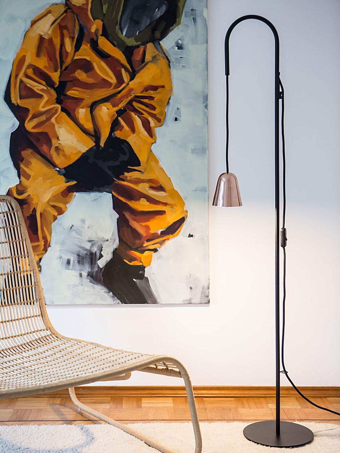 DesignOrt Blog: Platzsparende Stehleuchten Leselampe Chaplin Floor Formagenda