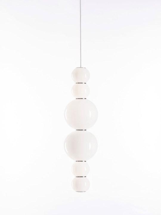 Pendel Lampe Pearls Double Opalglas LED von Formagenda Made in Germany