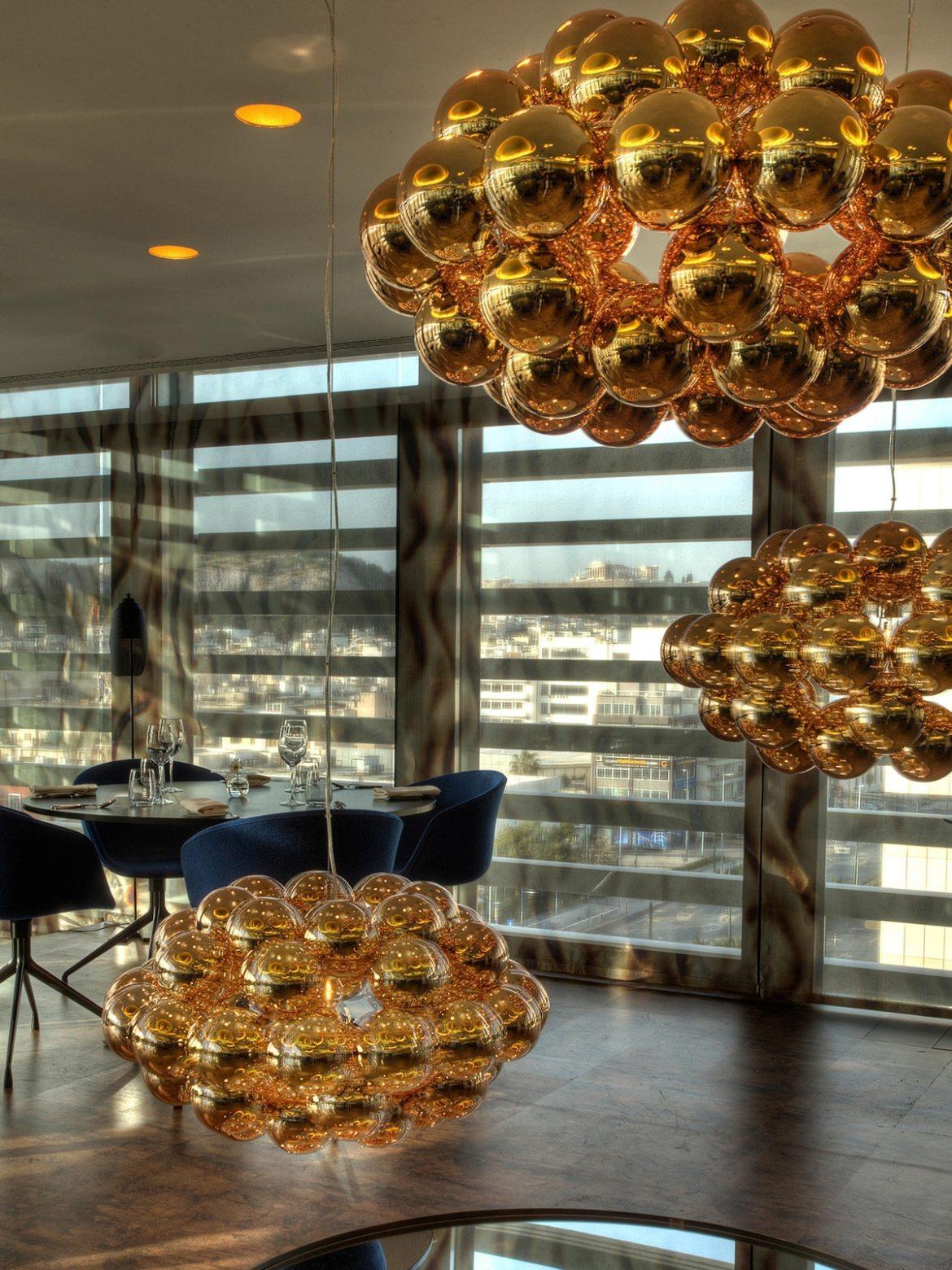 DesignOrt Blog: Lampen & Leuchten für das Gastgewerbe von Innermost Beads Leuchten in Kupfer