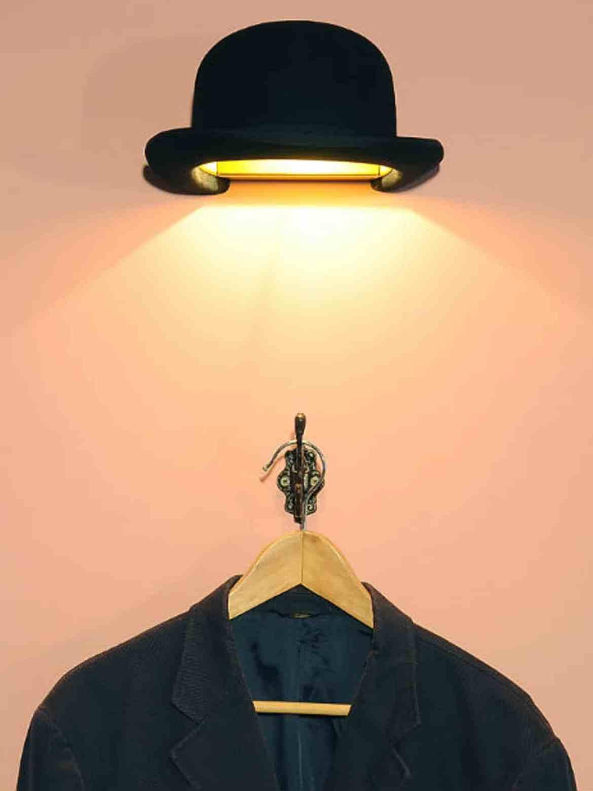 DesignOrt Blog: Ausgefallene Desigerleuchten Teil 2 Wandlampe Jeeves Wall Hutlampe Innermost