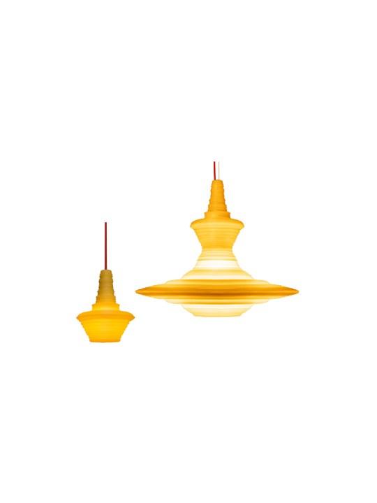 Pendelleuchten Stupa aus Naturharz von Innermost