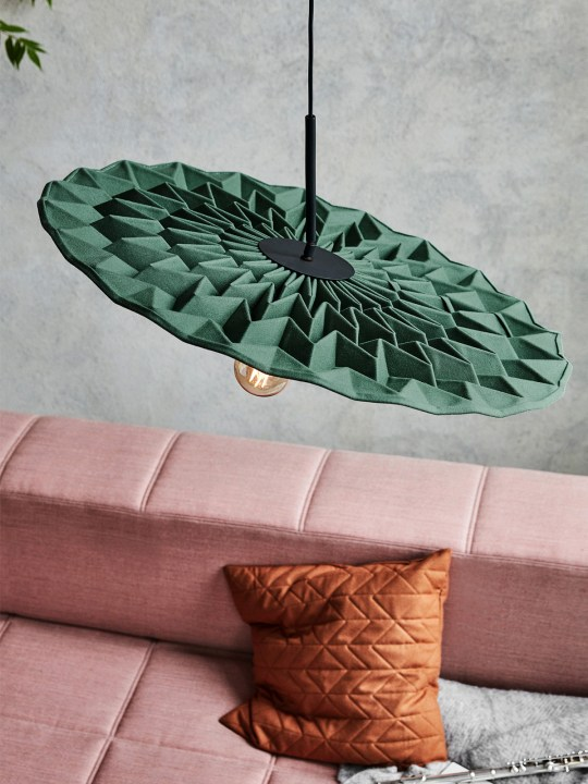 Northern Lighting Fold Lampe aus Wolle - dämmt Schall