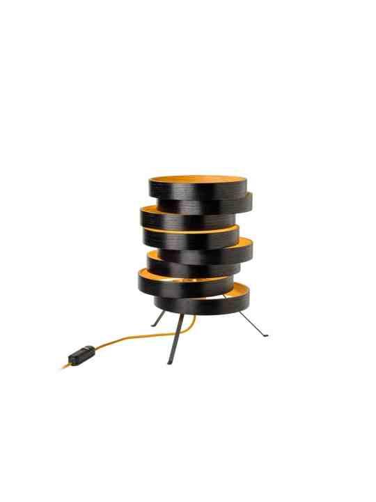 Domus Licht Cloq Tischlampe aus Holz nachhaltig Made in Germany