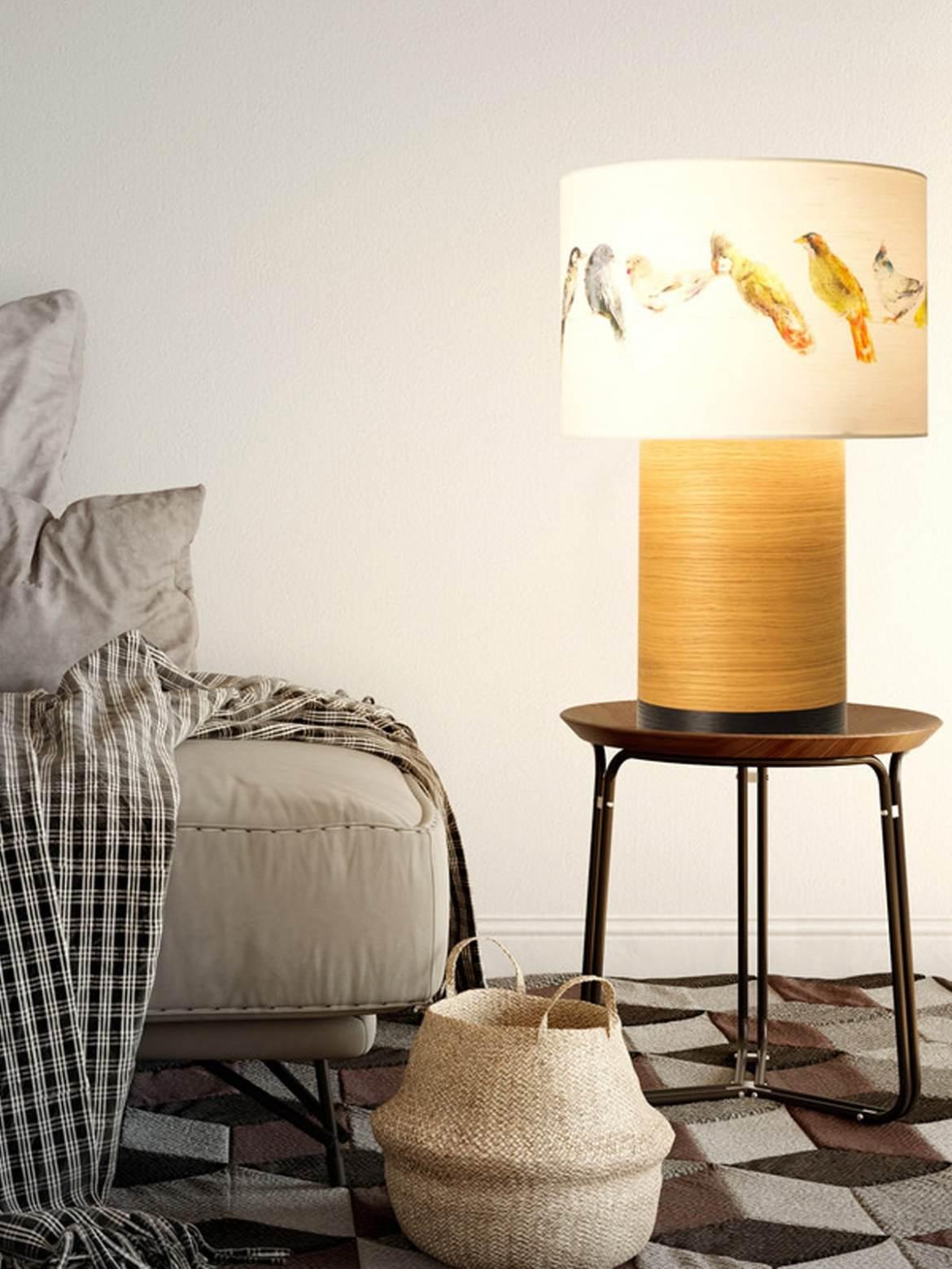DesignOrt Blog: Bettlampen X Mal Anders Tischlampe Klippa XL von Domus aus nachhaltigem Holz + Textil