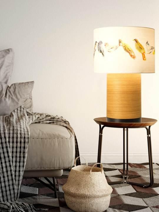 Tischlampe Klippa XL von Domus aus nachhaltigem Holz + Textil