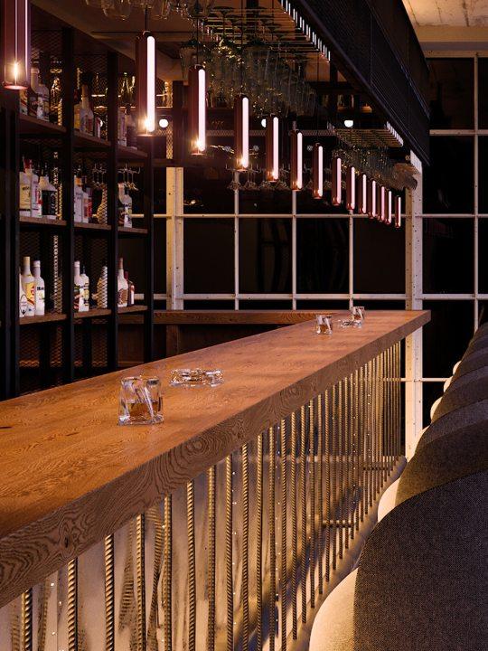 Brixton Spot über Tresen #gastronomie #beleuchtung #led #leuchte #spot