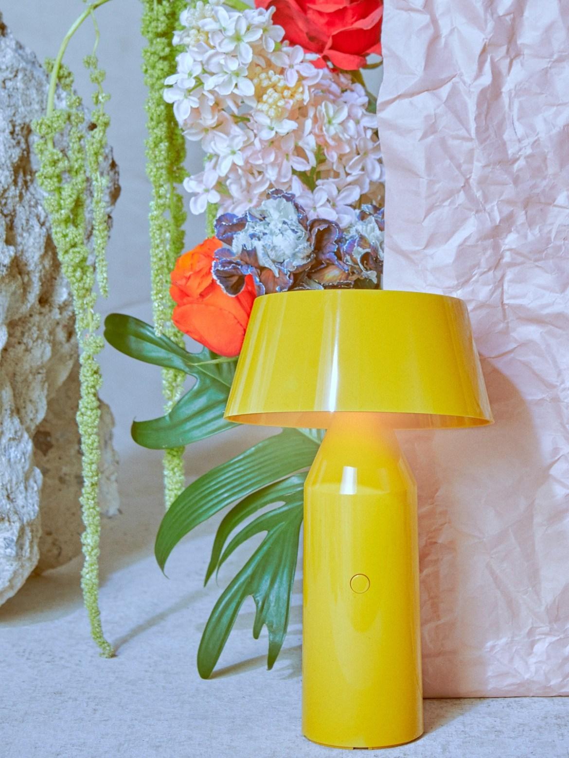 DesignOrt Blog: Designerleuchten in Gelb Portable Designerleuchte LED Marset Bicoca