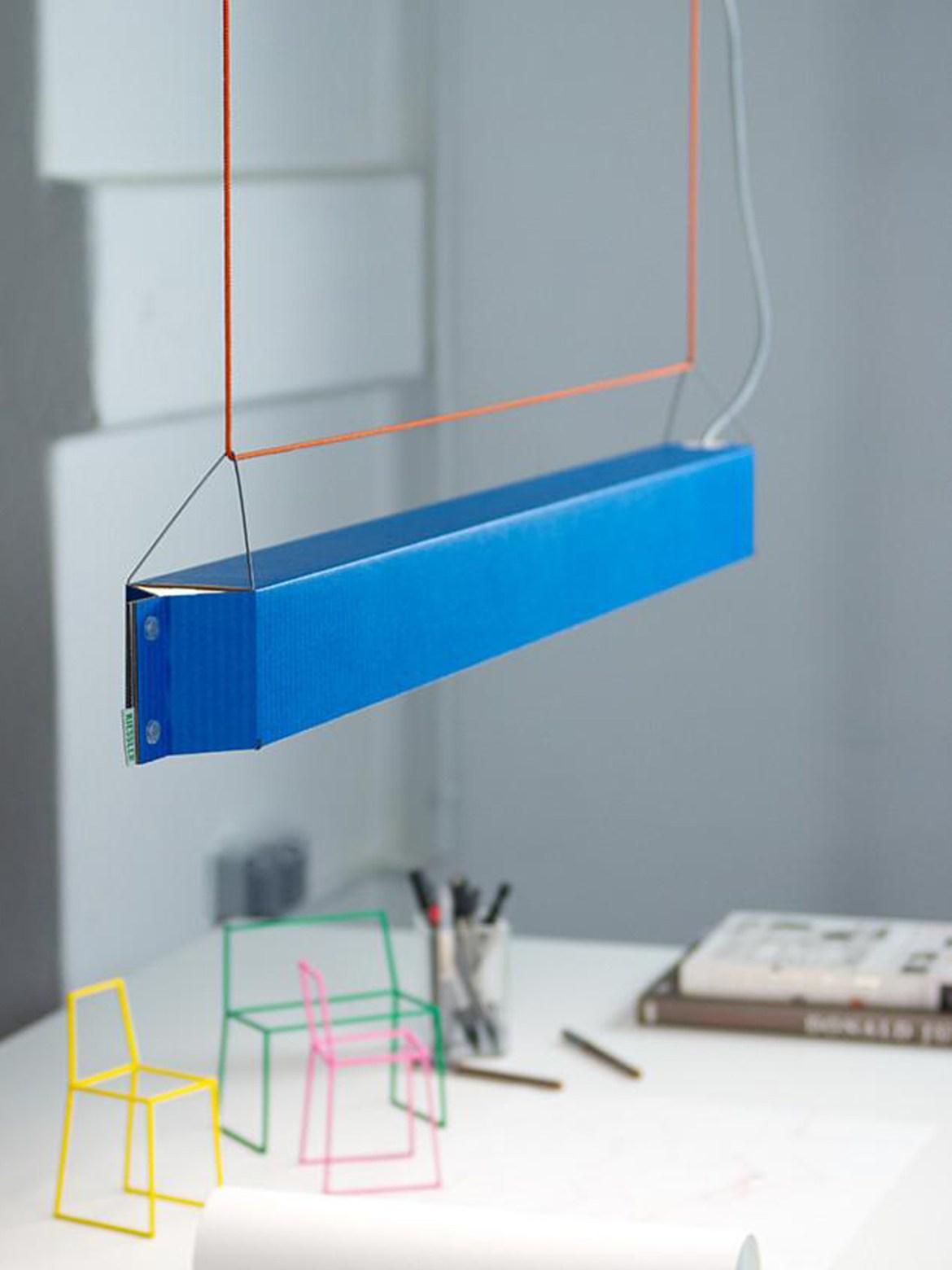 DesignOrt Blog: Deutsche Designerleuchten Teil 2 Pappleuchte NUMEROUNO von Kiessler bei DesignOrt