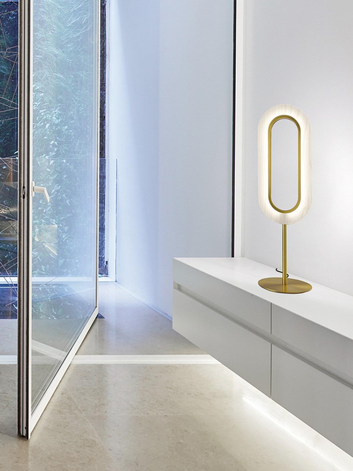 DesignOrt Blog: Neue Leuchten von LZF Lamps Lens Oval Gold