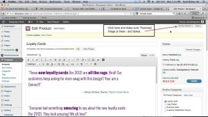WooCommerce Featured Image Option Missing FIX: step 1