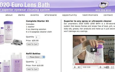 WordPress Customization: PSD to WordPress & E-commerce – 2020 Euro Lens Bath