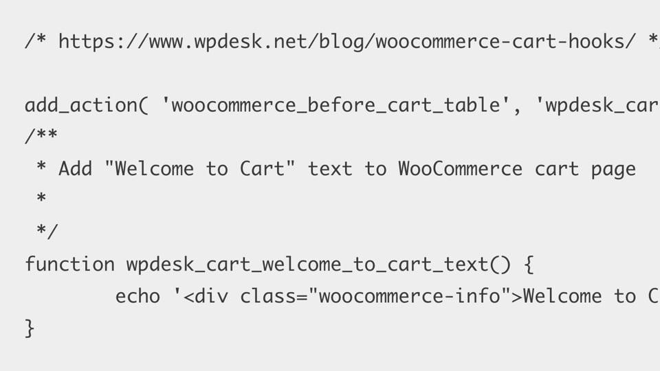WooCommerce Cart Hooks – WPDesk