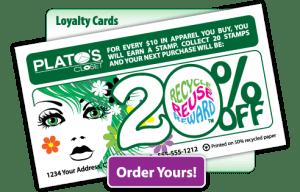 Web graphics - Plato's Closet custom loyalty cards