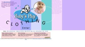 Baby's Play Clothing - PayPal Shopping Cart, HTML Website Design