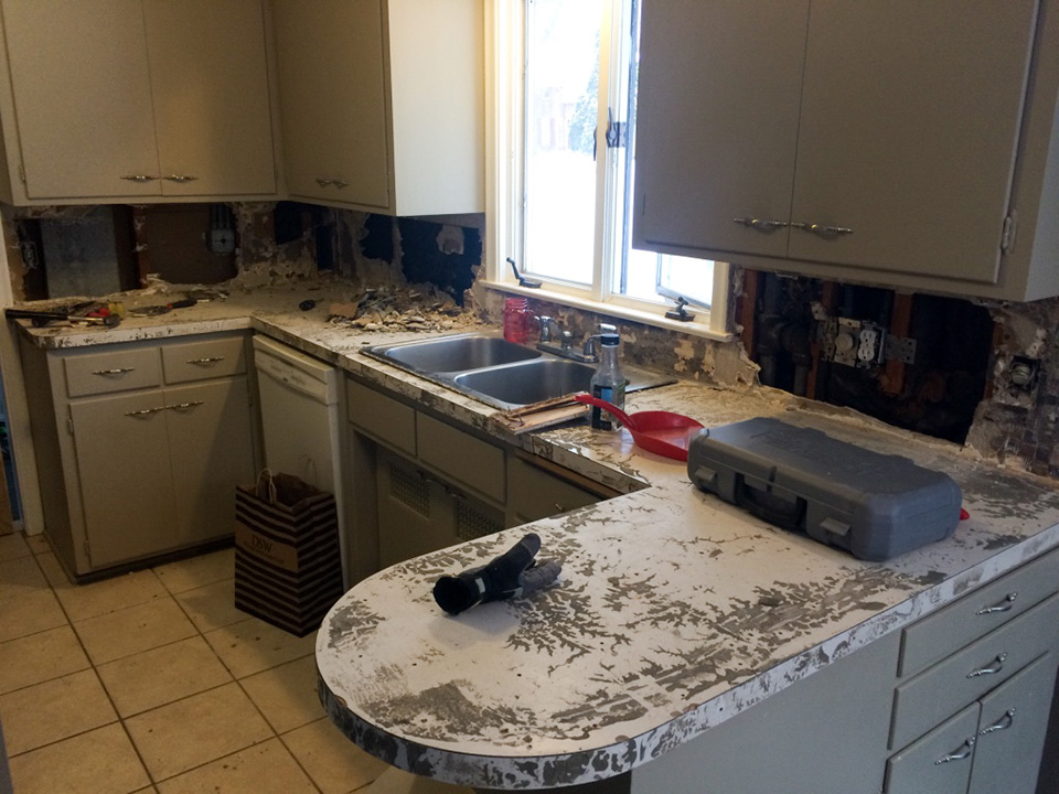 Kitchen Tile And Countertop Demolition Ash Smash