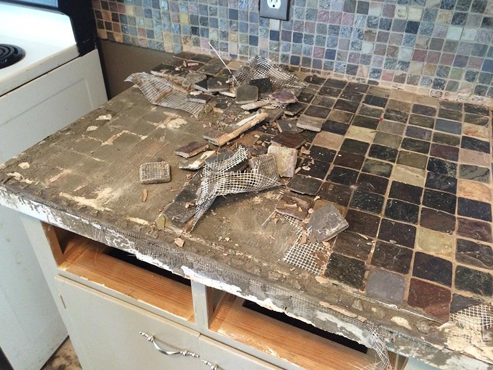 Kitchen Tile And Countertop Demolition Ash Smash