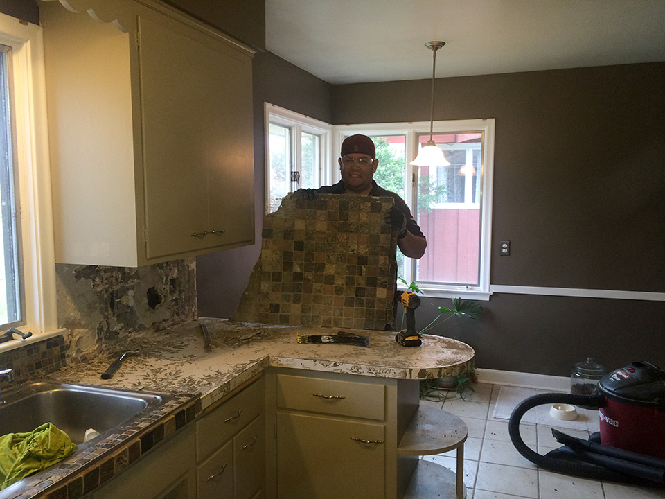 Demo Kitchen Tile Removal Ben Full