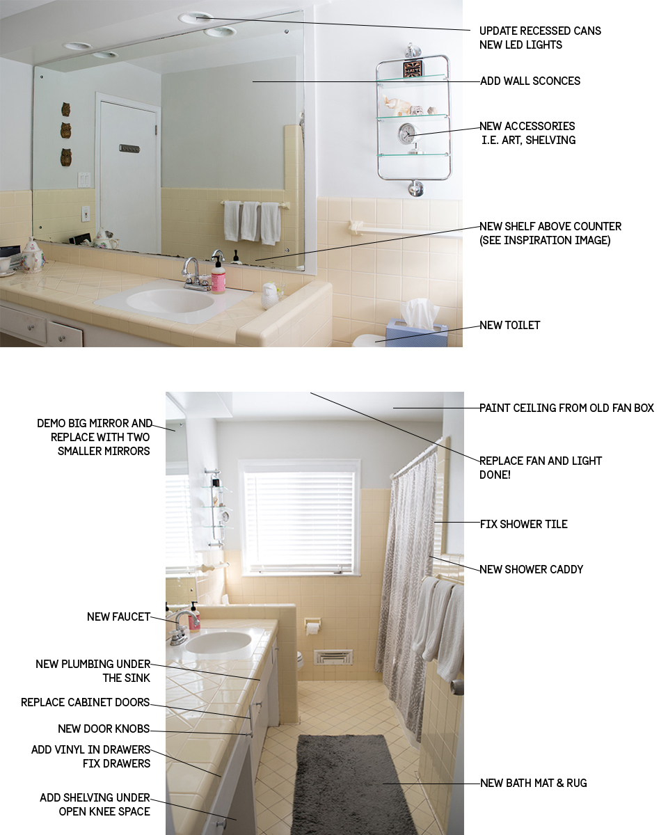 Bathroom updates ideas our favorite bathroom update for Bathroom updates