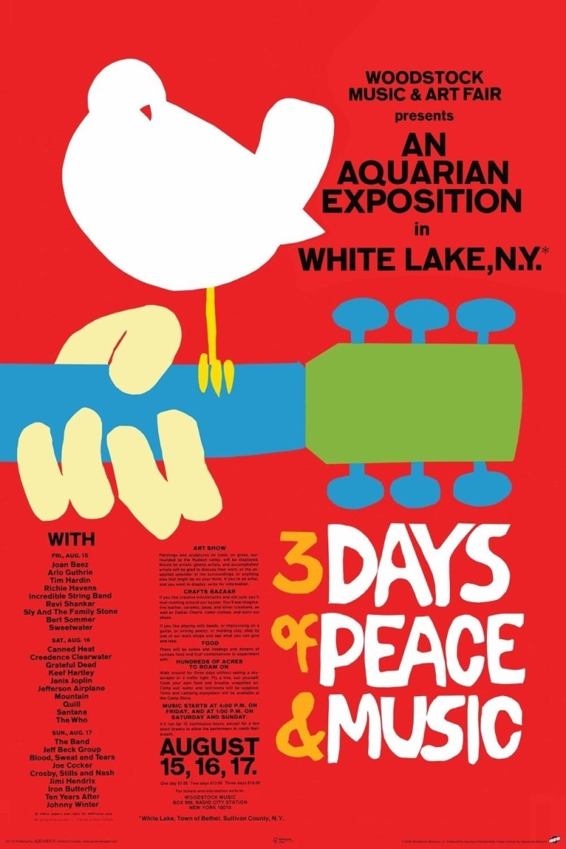 Il poster di Woodstock, Arnold Skolnick
