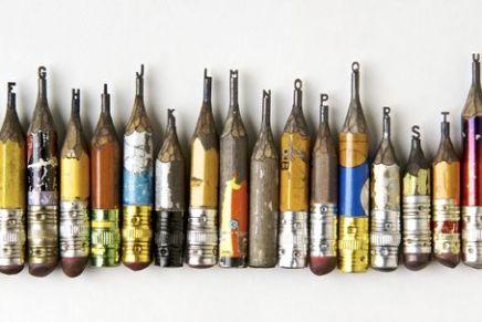 Le matite scolpite di Dalton Ghetti