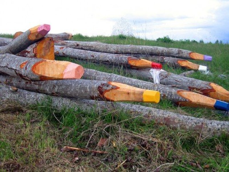 Matite colorate giganti nella foresta, Jonna Pohjalainen su Design Playground