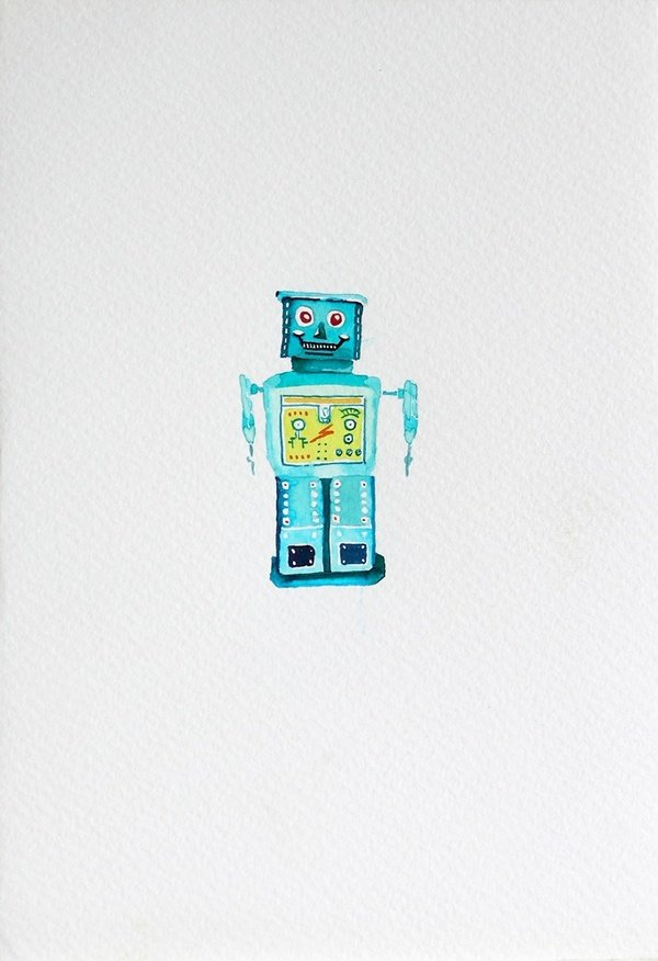 Smilemachine 2011, water colour, 18x12 cm
