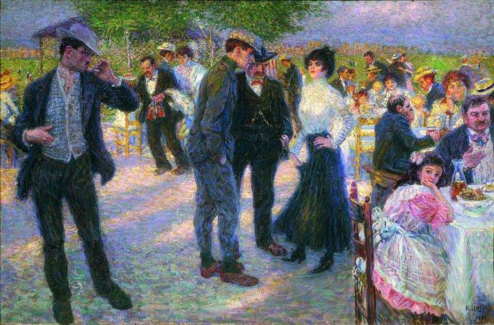 Enrico Lionne: Fuori Porta San Giovanni, olio su tela, 1911, Galleria Nazionale d'Arte Moderna, Roma