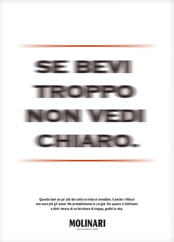 Se bevi troppo non vedi chiaro. Luca Riva & Andrea Masciullo x Tita x Molinari