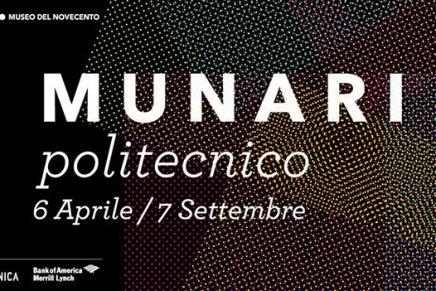 'Munari Politecnico' al Museo del '900 a Milano