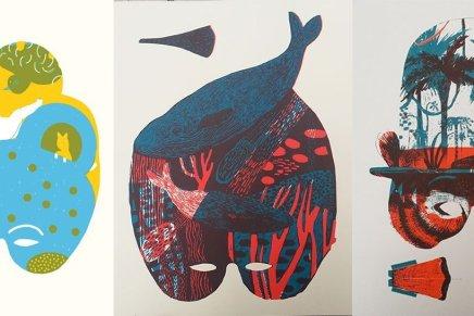 Le maschere di Else Edizioni. Serigrafia a due colori